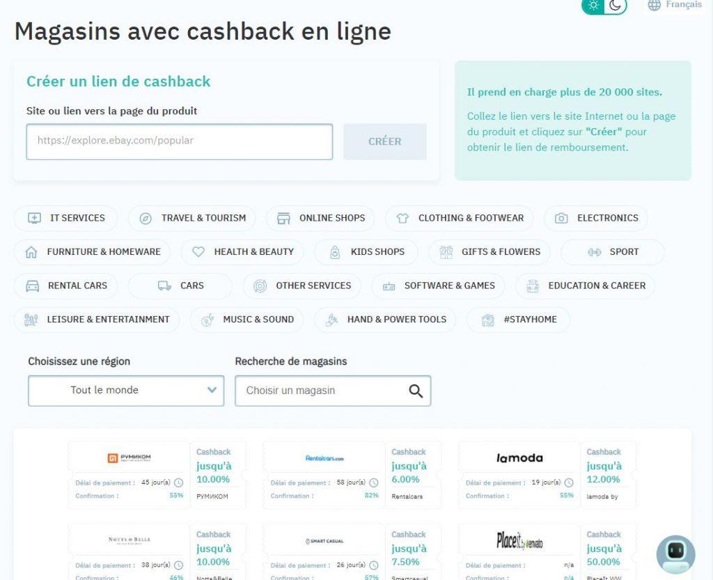 Cashback en ligne